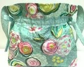 Boho Chic Quilted Drawstring Shoulder Bag  Purse Tote Summer