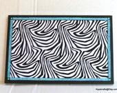 Zebra With Bling Cork Board, Cork Bulletin Board, Cork Message Board, Cork Pin Board, Girls Bedroom Decor, Gift For Her