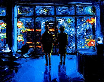 Fight Club Art - Fight Club Final Scene Starry Night print van Gogh Never Watched The World Burn by Aja DIGITAL DOWNLOAD