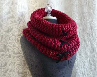 50% Off Sale - The Corset Cowl in cherry red