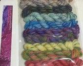 10 Koigu KPPPM sock yarn mini skeins