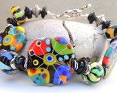 Spunky Handmade Lampwork Bead Bracelet