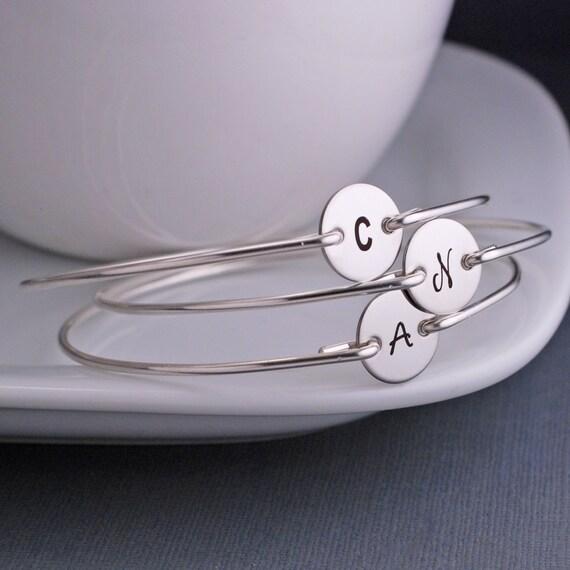 Bridesmaid Jewelry, SEVEN, Wedding Jewelry, Personalized Bridesmaid Jewelry Gift, Simple Bridesmaid Bracelet