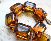 "citrine statement necklace, citrine Anna wintour necklace, Anna Wintour, collet necklace, georgian paste, Art Deco jewelry. ""Adele"""