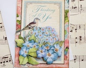 Thinking of You Card, Three Dimensional, Blank handmade greeting card. Thinking of You, I Love You, Any Occasion, Bird Card, Gift for her