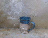 Mug Cup - Handmade Stoneware Pottery Ceramic - Lagoon Blue-Green - Willow - 14 ounce