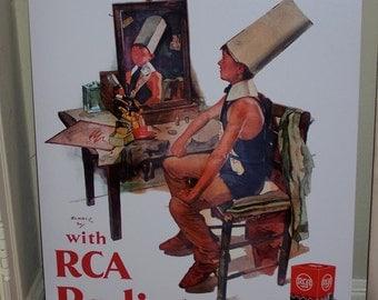 Circa 1930 RCA Radiotron Store window display expert reproduction 24 x 32