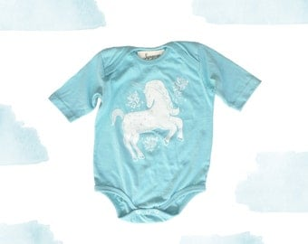 Unicorn print baby onesie sleeper READY TO SHIP