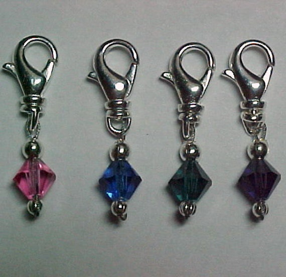 Removable Multi-Colored Crystal Stitch Markers - Item No. 814