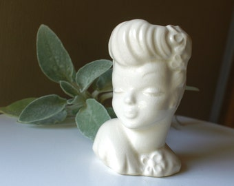 Vintage Lady Head Vase USA Planter