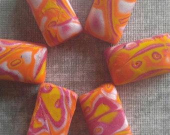 Sunset Explosion Rectangle Snag free Stitch Markers Small