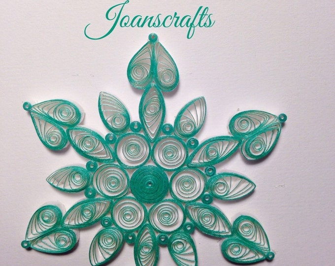 Sparkling Green Quilled Snowflake Ornament
