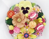Half Off Sale Hand Mirror - Repurposed Jewelry - Mama's Spring Bouquet - Personalization Available - M001034
