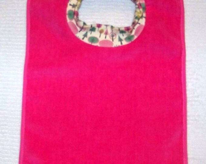 Towel Bib by PETUNIAS - absorbent washable dryable trees organic knit baby toddler gift