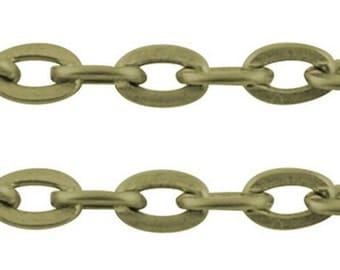 20 Feet Antique Bronze Cross Chains CH-0.6PYSZ