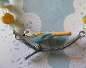 Yellow Bluebird Necklace