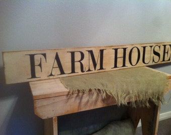 FARM HOUSE Sign Large Farmstyle