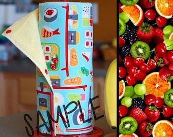 Unpaper Towels | Reusable Paper Towels - Fruit Salad (0434608) Tree Saver Towel | Kitchen Towel | Snapping Cloth Paperless Towel & Wet Bag