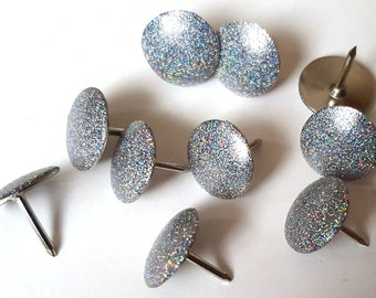 Holographic Thumbtacks, Push Pins Set. Perfect for Bulleting Boards, Office Gifts, Office Decor.