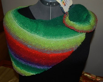 Handknit Triangular Scarf