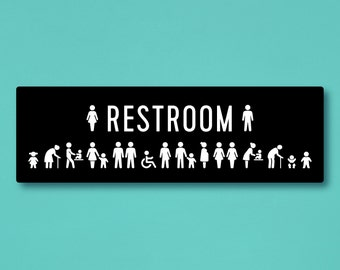 All Gender Restroom Sign With Including Mensu0027 Changing Table  Icon/Transgender