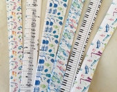 """5/8"""" Weaving Star Paper~ Assorted Music (50 strips)"""