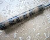 Crochet Hook, Music Sheet on Gold Glitter, Polymer Clay, Bates, Size F