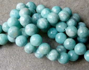 Russian Amazonite Smooth Round Beads - Set of 10 - 6mm
