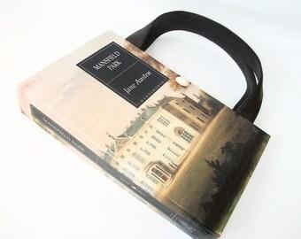 Jane Austen Book Purse Mansfield Park Book Handbag, Fashion Accessories, Altered Recycled Handmade