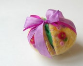 Easter Egg Toy: Sweet Something in 'Riches' (Silk and Wool Hollow Egg with Playsilk and Bunny)