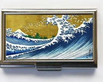 Japanese Wave Business Card Holder Card Case