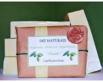 Castile Cold Process Soap 100% Olive Oil