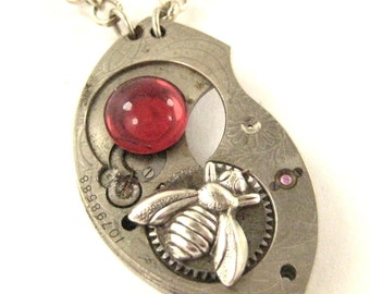 Bee  Wave Silver ,   Steampunk  Mechanical Bee Creation, Victorian Bee, One of  A Kind