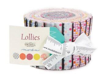 SALE Lollies by Jen Kingwell Junior Jelly Roll 20 2.5inch Strips Moda Fabrics