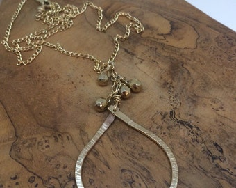 Gold Teardrop Necklace