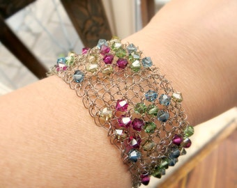 Crystal & Wire Bracelet - Knitting Pattern PDF