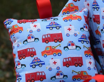 Shopping Cart Cover - Boutique shopping Cart Cover for Boy  - Emergency Rescue Vehicles