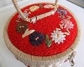 Vintage Sewing Basket Organizer Made in Japan