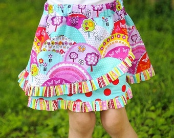 30% OFF Girls Skirt Pattern 2-8 years, downloadable sewing pattern PDF