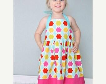 30% OFF Girls Halter Dress Pattern PDF Sewing Pattern sizes 2 to 8