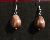 Swirly brown tone stone drop earrings Perfect for daily wear!