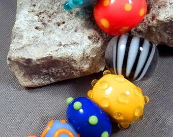 Handmade lampwork beads by Monaslampwork - Summer Color - Handmade Lampwork Beads by Mona Sullivan Colorful Organic Bohemian Gypsy Tribal