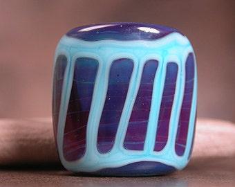 Artisan Glass Focal Bead Purples & Blue Divine Spark Designs SRA
