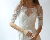 Beaded lace wedding top separate - Sample Sale Half-Sleeve