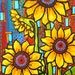Sunflowers, Yellow, Southwest, Print Shelagh Duffett