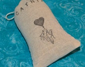 Organic Catnip (Cat Nip) Loose in a Hand Stamped Bag Cats