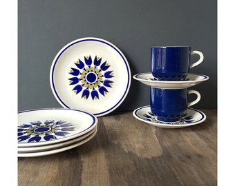 1960s Plates and Coffee Mugs by Colorama - Made in Japan