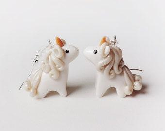Fantasy Golden Horn Unicorn Earrings
