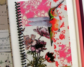 Hummingbird Spiral A6 Pocket Notebook, Back to School, Sketchbook, Blank Writing Diary Spiral Bound Journal, Gifts Under 15, Cute, Ciaffi