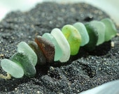 Bulk sea glass - Sea glass crafts - DRILLED sea glass - beach glass for jewelry making - center drilled sea glass beach glass
